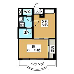 カメリア・コート長町[3階]の間取り