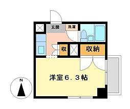 ホワイトヒルズ東桜[2階]の間取り