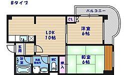 エスポワール住之江公園[3階]の間取り