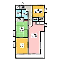 グラン ソミューレ[2階]の間取り