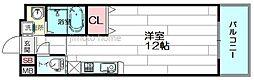 ニッケノーブルハイツ江坂[6階]の間取り