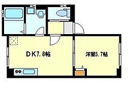 ParkSideK[1階]の間取り