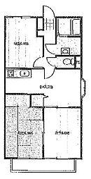 埼玉県さいたま市中央区八王子4丁目の賃貸マンションの間取り