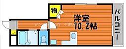 岡山県岡山市北区大元上町の賃貸マンションの間取り