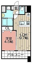 ランドマーク松島[1003号室]の間取り