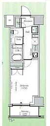 東京メトロ東西線 東陽町駅 徒歩23分の賃貸マンション 5階1Kの間取り