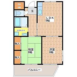 R-レジデンス平野[6階]の間取り