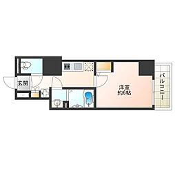 Osaka Metro谷町線 阿倍野駅 徒歩6分の賃貸マンション 5階1Kの間取り