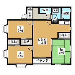 京都府京都市北区小山上内河原町の賃貸アパートの間取り