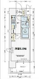 エステムコート難波WEST−SIDEVIIグローブ[8階]の間取り
