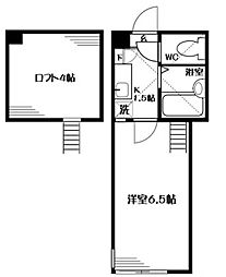 神奈川県相模原市緑区橋本5丁目の賃貸アパートの間取り