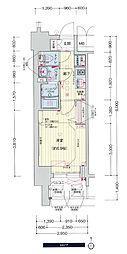 名古屋市営東山線 千種駅 徒歩5分の賃貸マンション 9階1Kの間取り