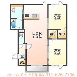 (仮称)北31条西5丁目 新築AP[2階]の間取り