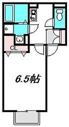 大阪府門真市御堂町の賃貸アパートの間取り