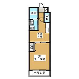 サクシード深草[3階]の間取り