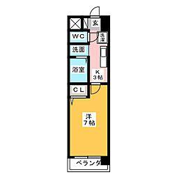 御舘鯛取[9階]の間取り