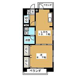 Floresta名駅[5階]の間取り