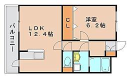 グランシャリオ箱崎II[3階]の間取り