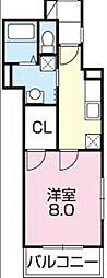 兵庫県姫路市塩町の賃貸アパートの間取り