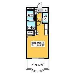 P.MII(藤田女性専用)[2階]の間取り