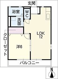 レトア東條[2階]の間取り