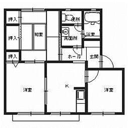 メープルコート[2階]の間取り