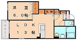 メゾンドフローラ[1階]の間取り