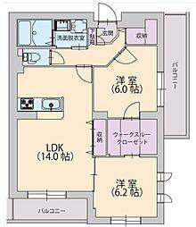 デザフィーオ[2階]の間取り