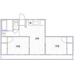 神奈川県横浜市西区浜松町14の賃貸マンションの間取り