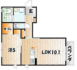 カーサ未来予想図[2階]の間取り