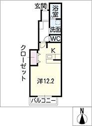 ハイツ・ミール[1階]の間取り