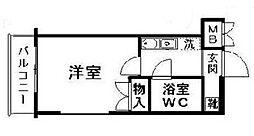 神奈川県横浜市磯子区原町の賃貸マンションの間取り