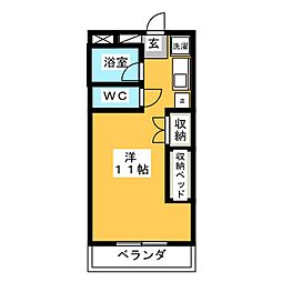 上田パストラルコート[2階]の間取り