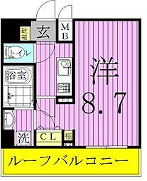 アルテカーサアリヴィエ東京EAST[4階]の間取り