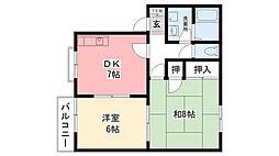 兵庫県西宮市花園町の賃貸アパートの間取り