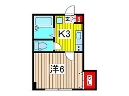 コスモプレイス東浦和[3階]の間取り