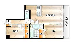 ラ・ルミエール[3階]の間取り