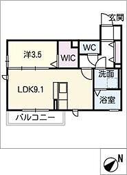 スクエアコート[2階]の間取り