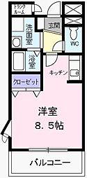 コンフォ−ト[0204号室]の間取り