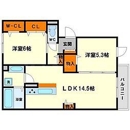 メゾンサンクレール[3階]の間取り