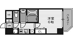 W-STYLE難波(ダブルスタイル)[13階]の間取り