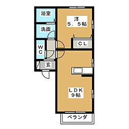 コーポサファイア[2階]の間取り