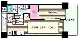 ディオ梅田[11階]の間取り