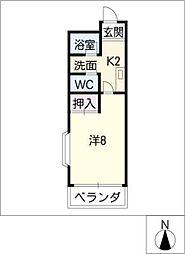 ルミエール・K[3階]の間取り