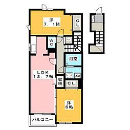 ソレイユ・S[2階]の間取り