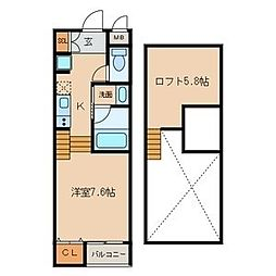Residencia[1階]の間取り