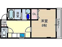モンフルール竹橋[1階]の間取り