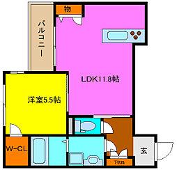 シャーメゾン岩田町[2階]の間取り