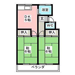 コーポラス伊藤[2階]の間取り