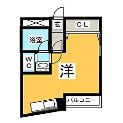 ラッフル徳川[6階]の間取り